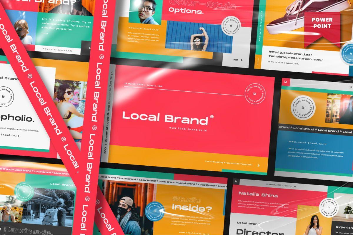 Local Creative Brand Powerpoint, 06477, Presentation Templates — PoweredTemplate.com