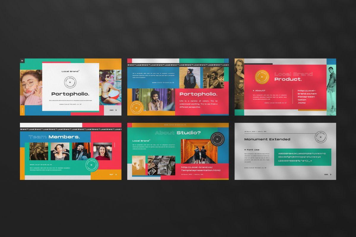 Local Creative Brand Powerpoint, Slide 4, 06477, Presentation Templates — PoweredTemplate.com