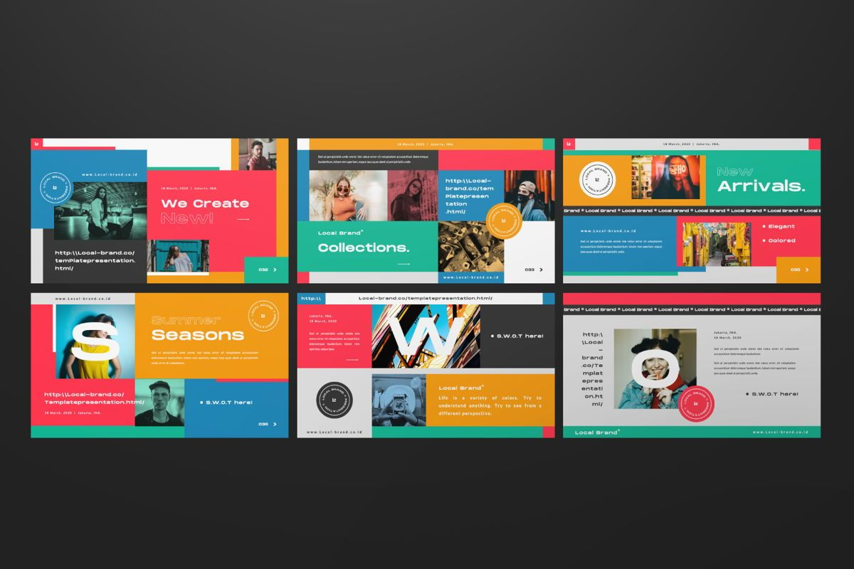 Local Creative Brand Powerpoint, Slide 5, 06477, Presentation Templates — PoweredTemplate.com