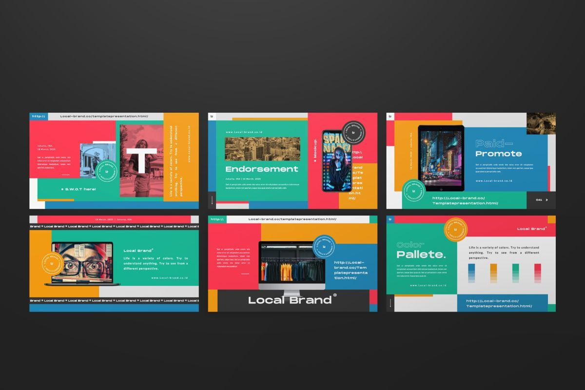 Local Creative Brand Powerpoint, Slide 6, 06477, Presentation Templates — PoweredTemplate.com