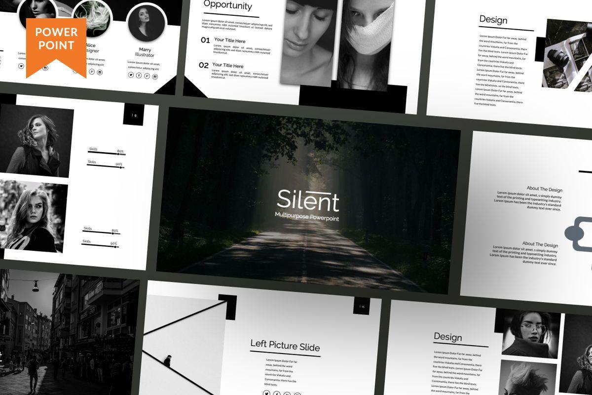 Silent Creative Powerpoint, 06478, Presentation Templates — PoweredTemplate.com