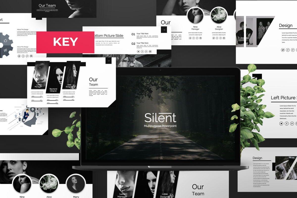 Silent Creative Keynote, 06479, Presentation Templates — PoweredTemplate.com