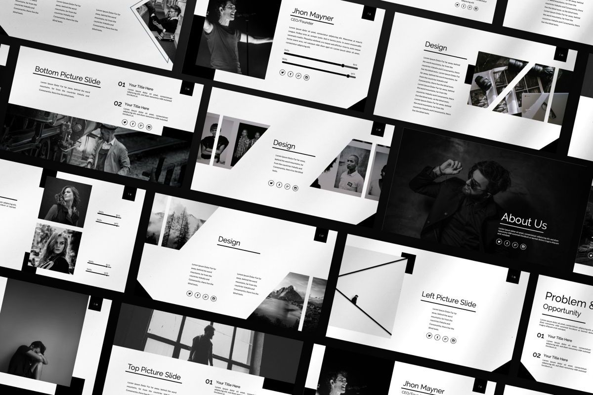 Silent Creative Keynote, Slide 2, 06479, Presentation Templates — PoweredTemplate.com