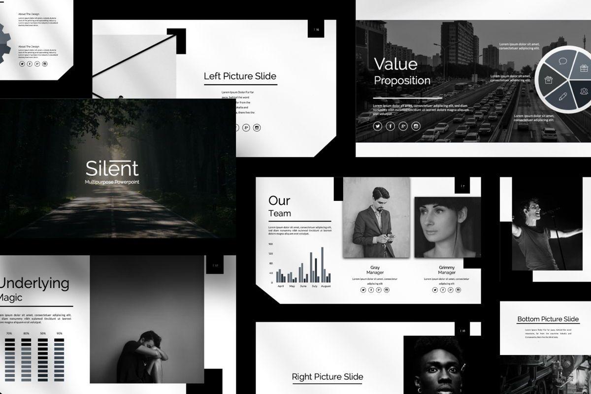 Silent Creative Keynote, Slide 3, 06479, Presentation Templates — PoweredTemplate.com