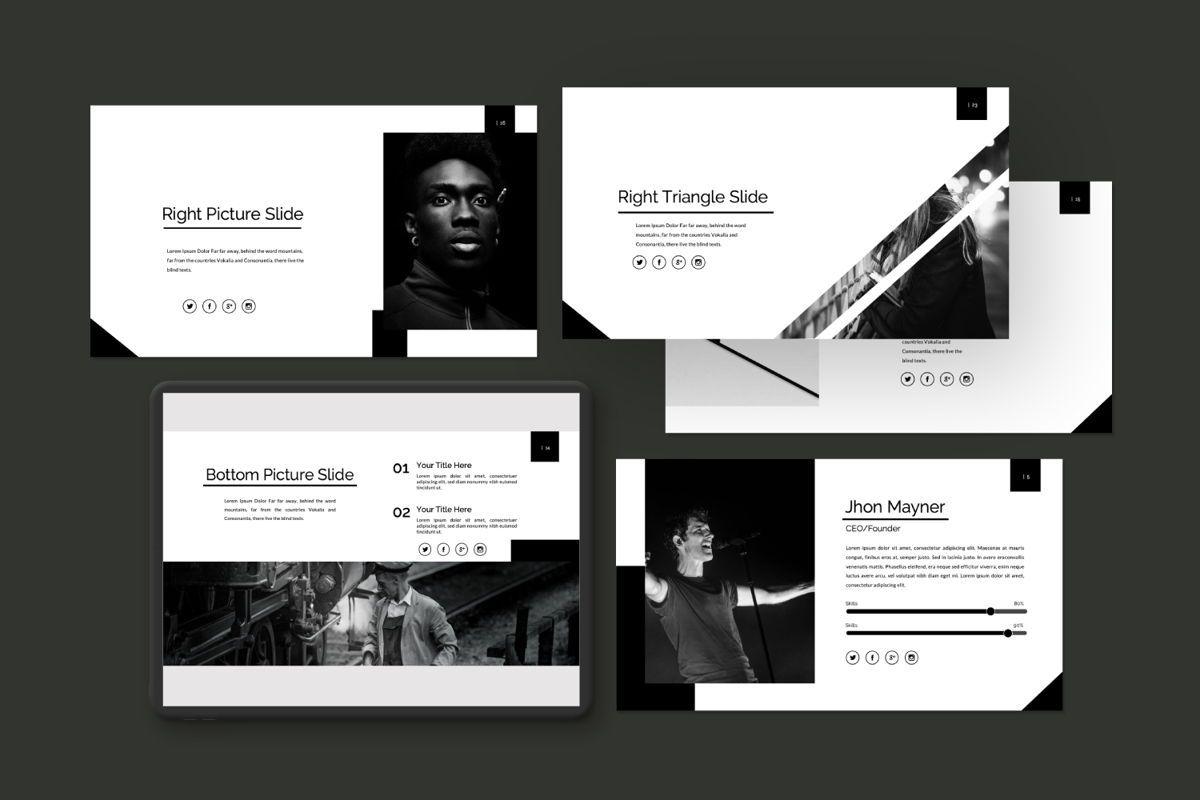 Silent Creative Keynote, Slide 4, 06479, Presentation Templates — PoweredTemplate.com