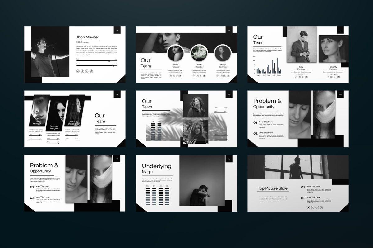 Silent Creative Keynote, Slide 5, 06479, Presentation Templates — PoweredTemplate.com