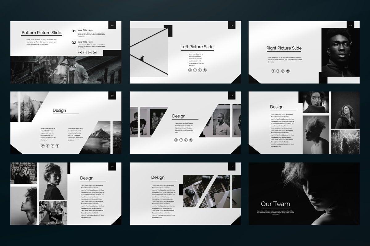 Silent Creative Keynote, Slide 6, 06479, Presentation Templates — PoweredTemplate.com