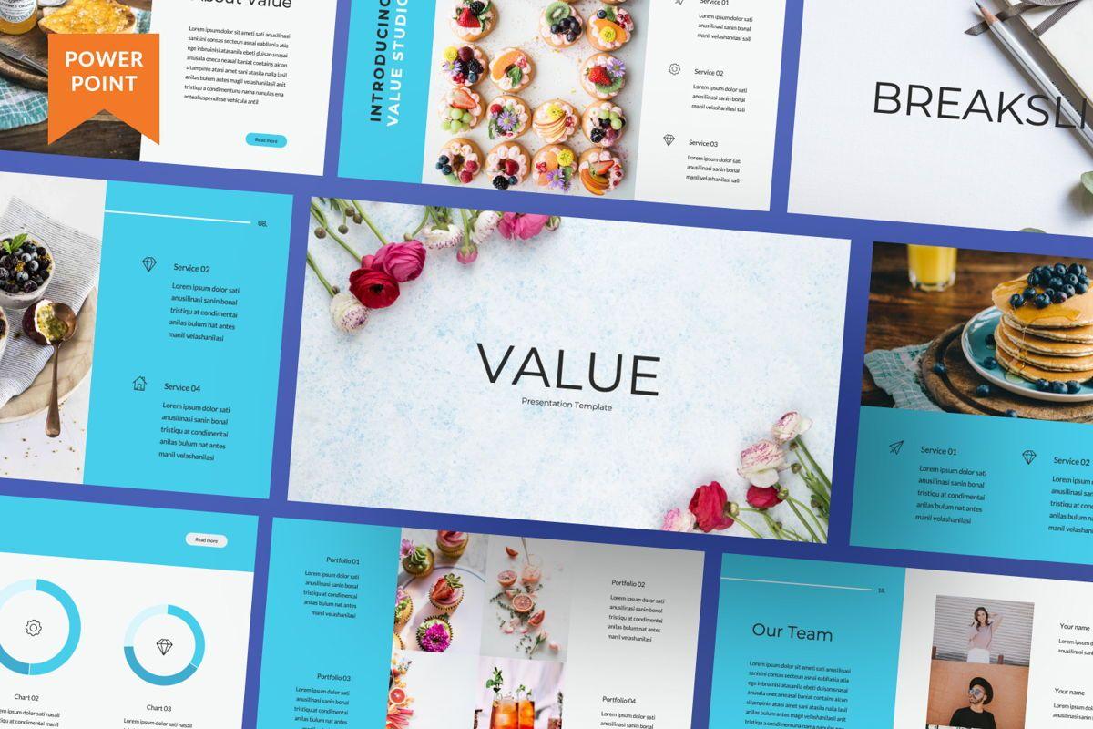 Value Creative Powerpoint, 06481, Presentation Templates — PoweredTemplate.com