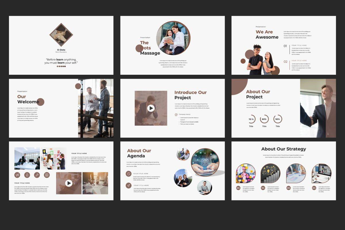 Dots Creative Powerpoint, Slide 2, 06484, Presentation Templates — PoweredTemplate.com