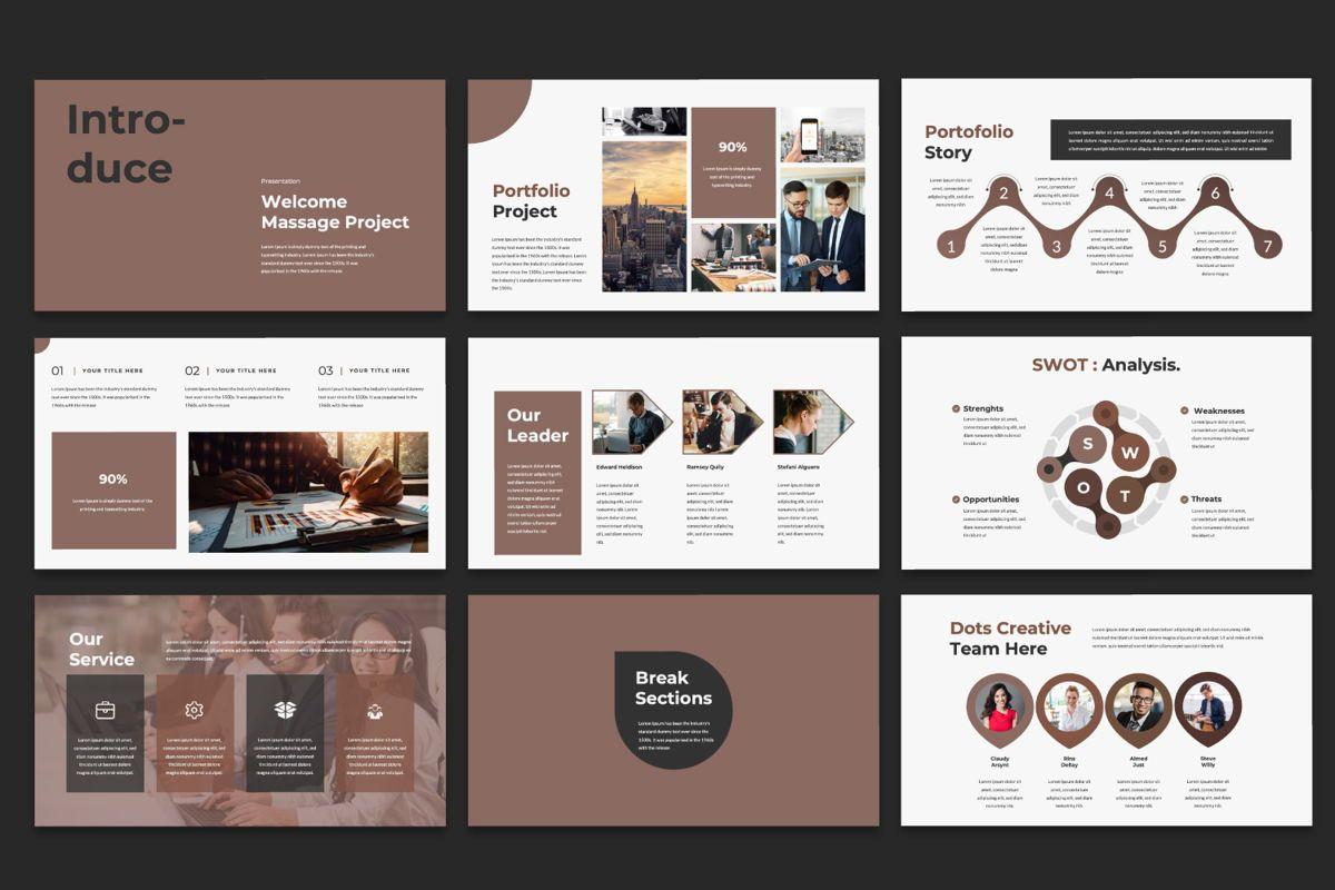 Dots Creative Powerpoint, Slide 3, 06484, Presentation Templates — PoweredTemplate.com