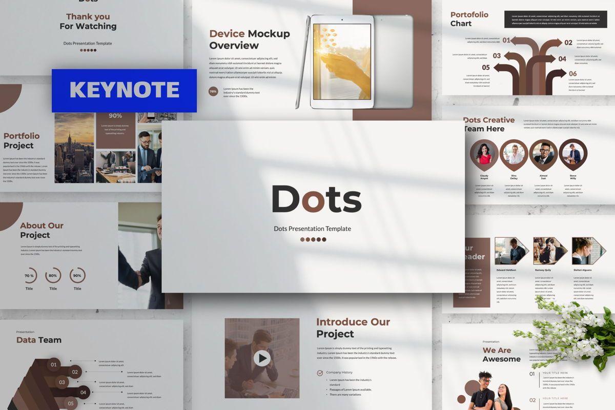 Dots Creative Keynote, 06485, Presentation Templates — PoweredTemplate.com