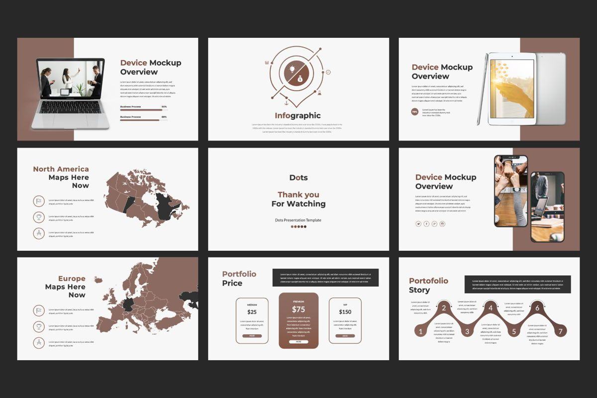Dots Creative Keynote, Slide 4, 06485, Presentation Templates — PoweredTemplate.com
