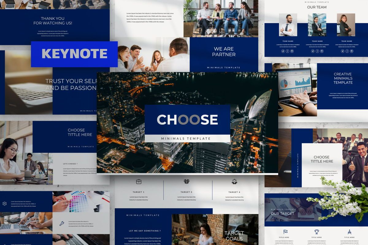 Choose Creative Keynote, 06488, Presentation Templates — PoweredTemplate.com
