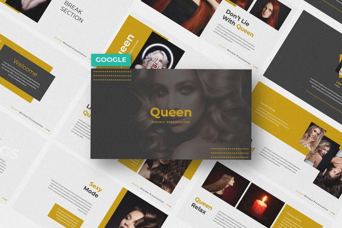 Queen Creative Google Slide, 06491, Presentation Templates — PoweredTemplate.com