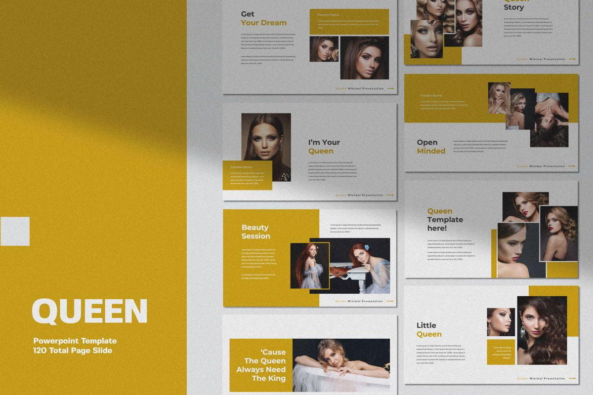 Queen Creative Keynote, 06492, Presentation Templates — PoweredTemplate.com