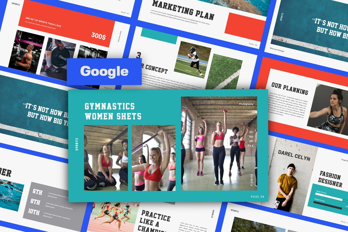 Sportz Creative Google Slide, 06495, Presentation Templates — PoweredTemplate.com