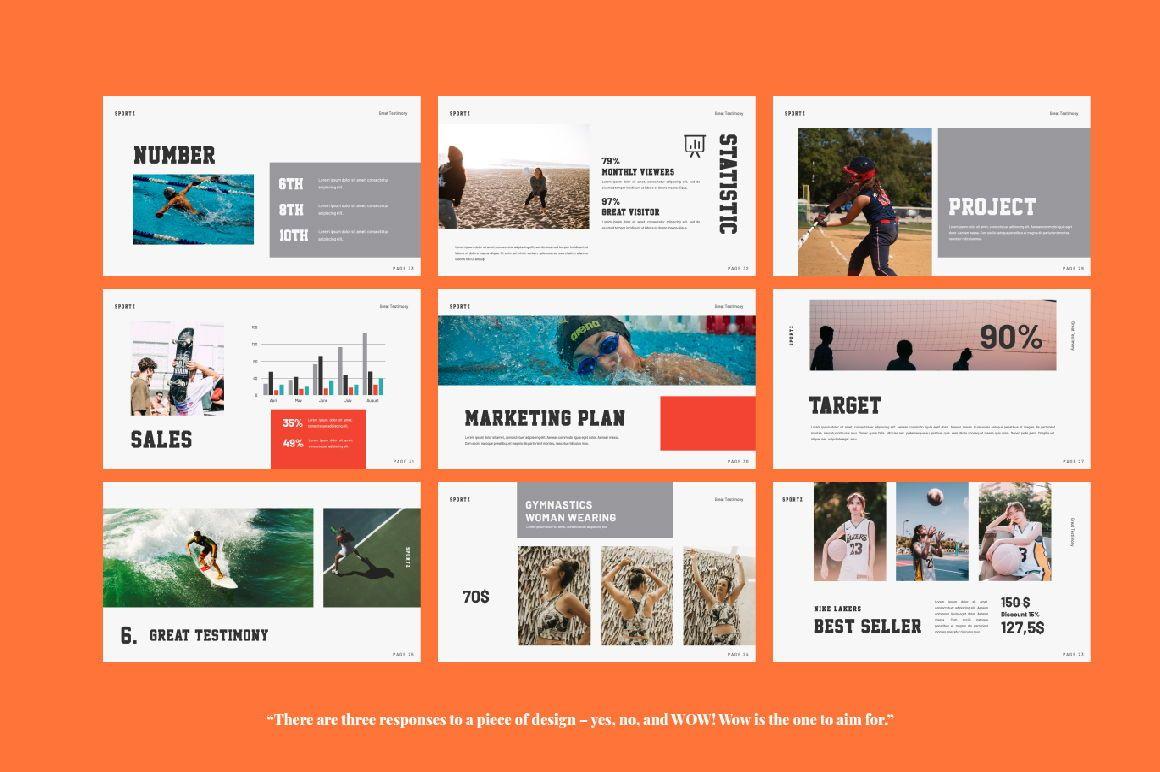 Sportz Creative Google Slide, Slide 2, 06495, Presentation Templates — PoweredTemplate.com