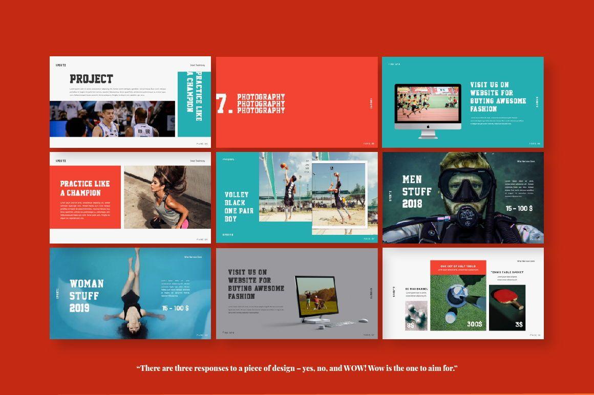 Sportz Creative Google Slide, Slide 3, 06495, Presentation Templates — PoweredTemplate.com