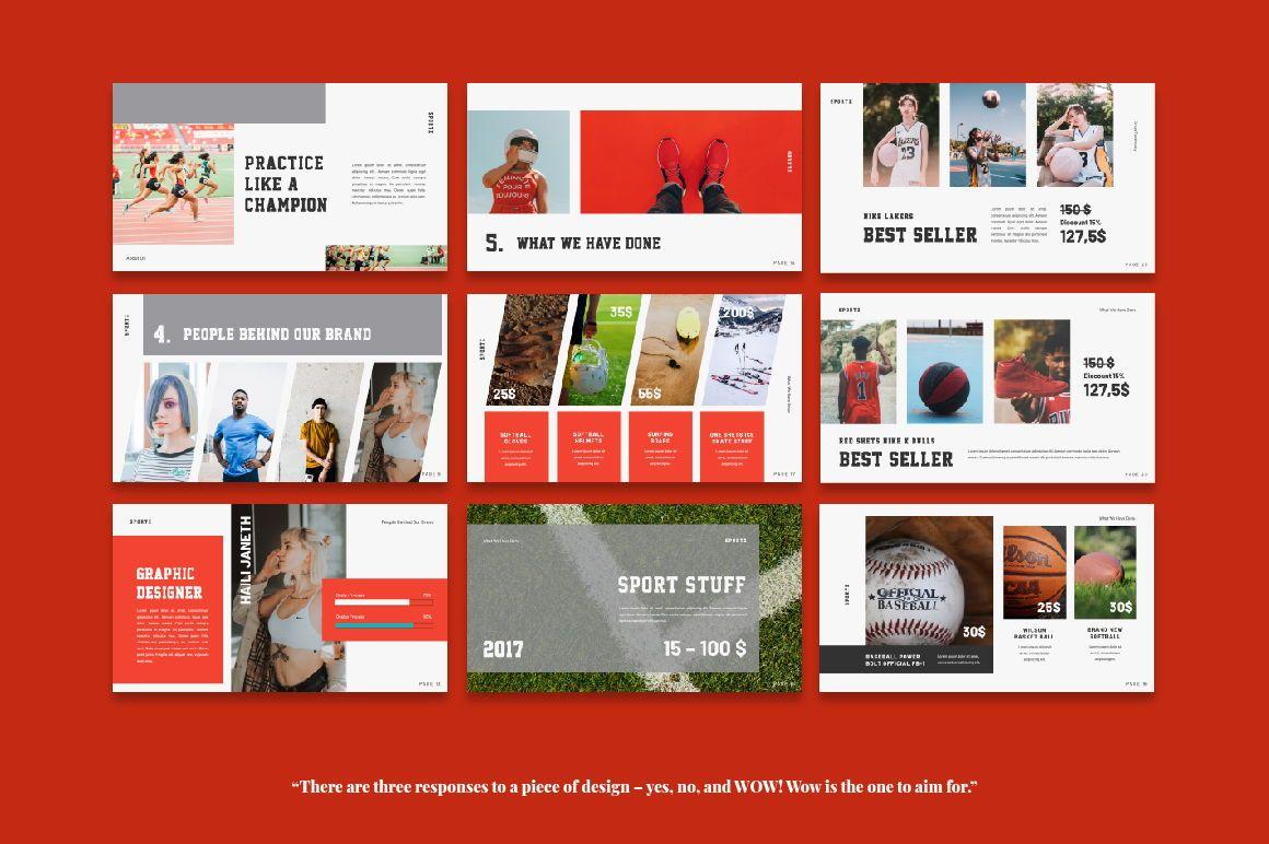 Sportz Creative Google Slide, Slide 4, 06495, Presentation Templates — PoweredTemplate.com