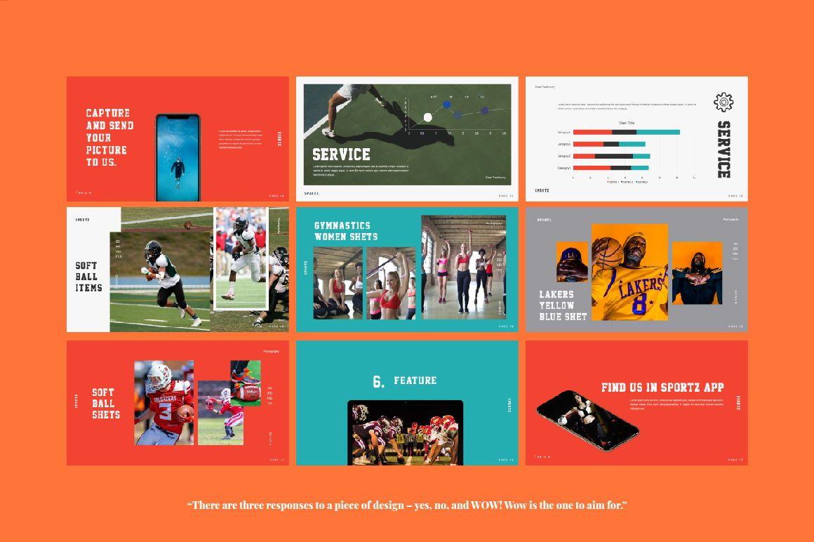 Sportz Creative Google Slide, Slide 5, 06495, Presentation Templates — PoweredTemplate.com