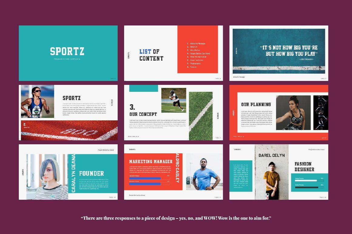 Sportz Creative Google Slide, Slide 6, 06495, Presentation Templates — PoweredTemplate.com
