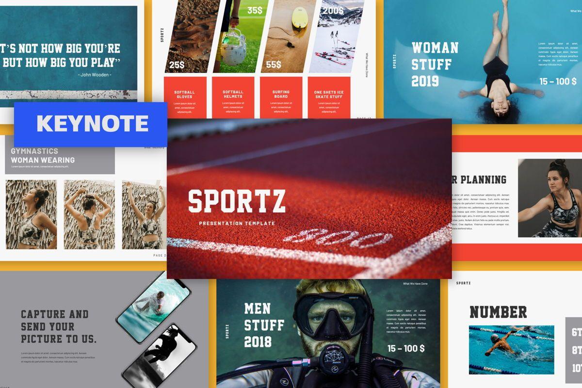 Sportz Creative Keynote, 06496, Presentation Templates — PoweredTemplate.com
