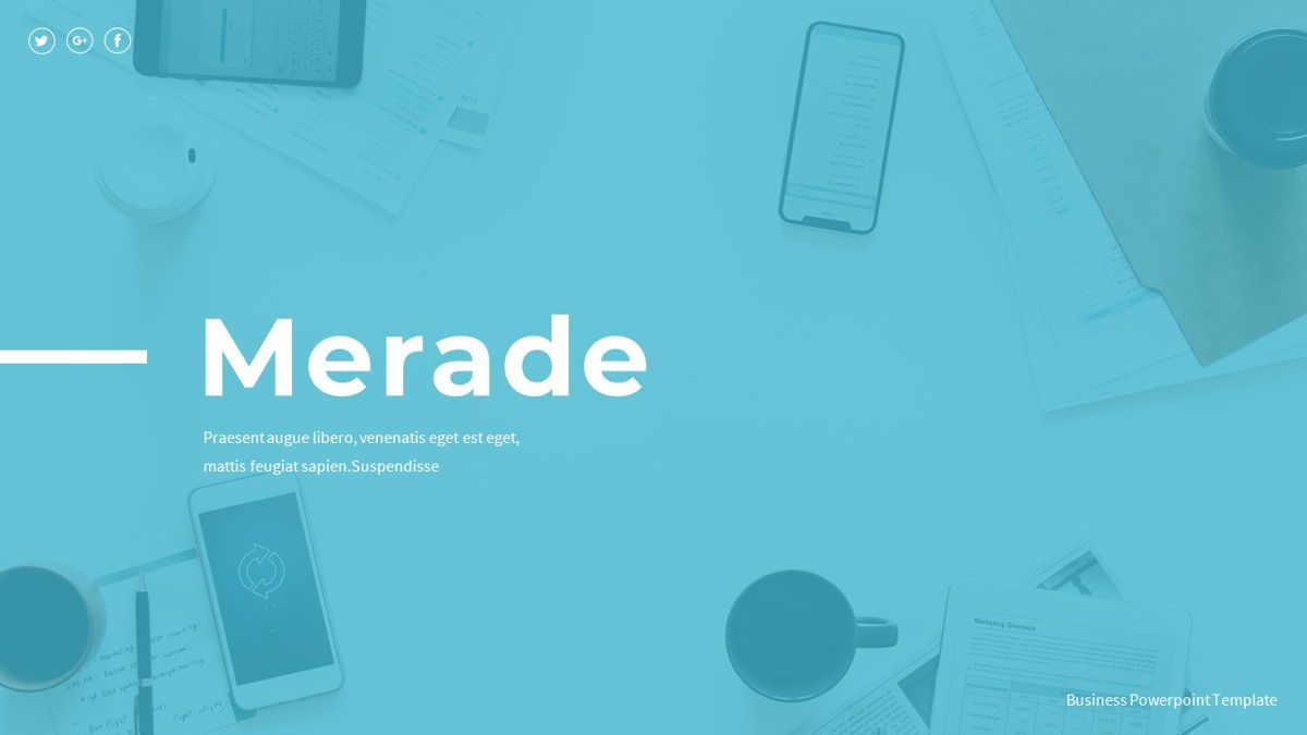 Merade - PowerPoint Presentation Template, 06497, Data Driven Diagrams and Charts — PoweredTemplate.com