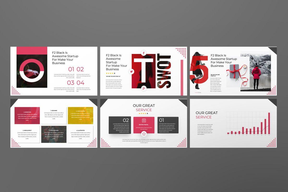 F2 Black Business Powerpoint, Slide 5, 06498, Presentation Templates — PoweredTemplate.com