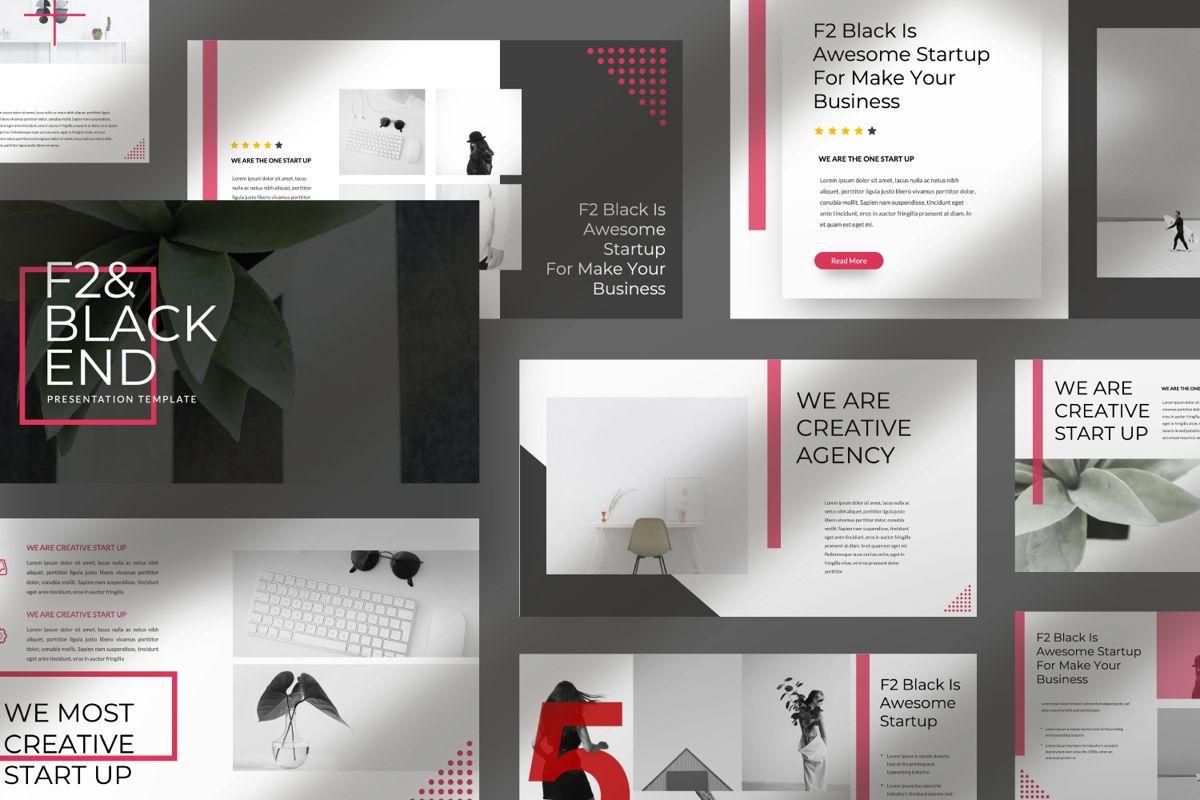 F2 Black Business Keynote, Slide 9, 06499, Presentation Templates — PoweredTemplate.com