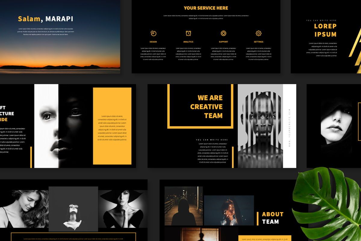 Marapi Creative Keynote, Slide 9, 06502, Presentation Templates — PoweredTemplate.com