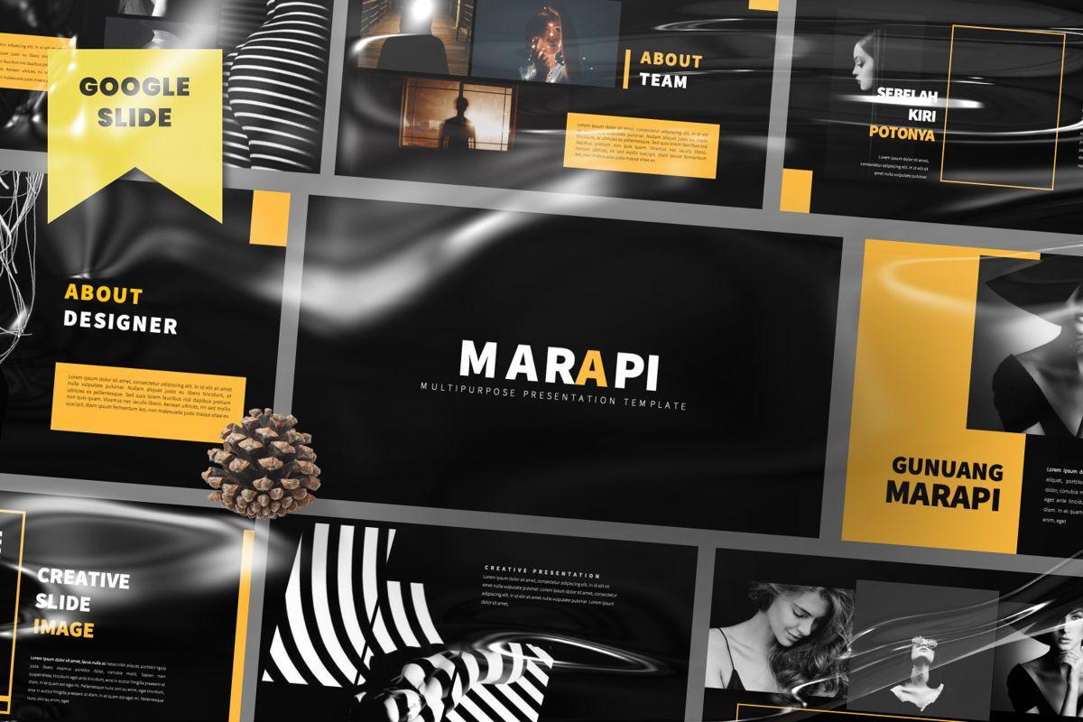 Marapi Creative Google Slide, 06503, Presentation Templates — PoweredTemplate.com
