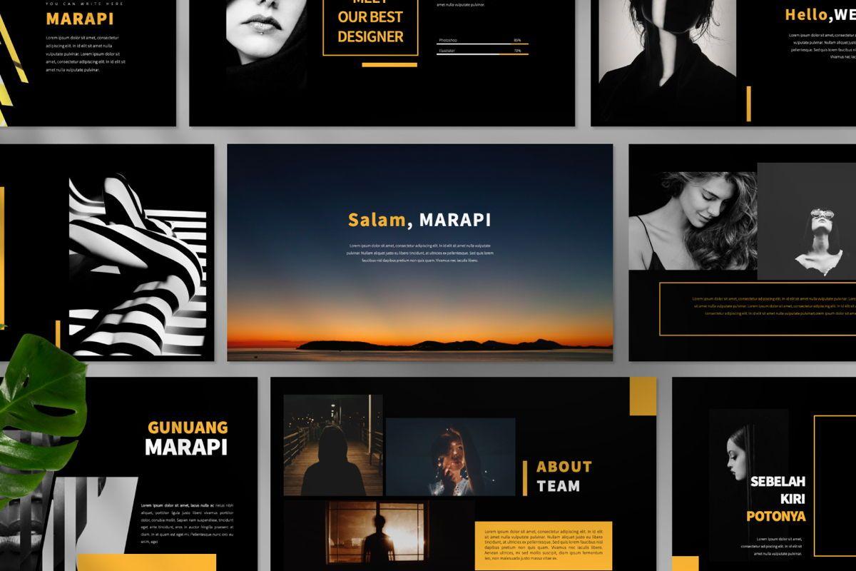 Marapi Creative Google Slide, Slide 11, 06503, Presentation Templates — PoweredTemplate.com