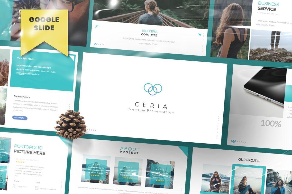 Ceria Creative Google Slide, 06504, Presentation Templates — PoweredTemplate.com
