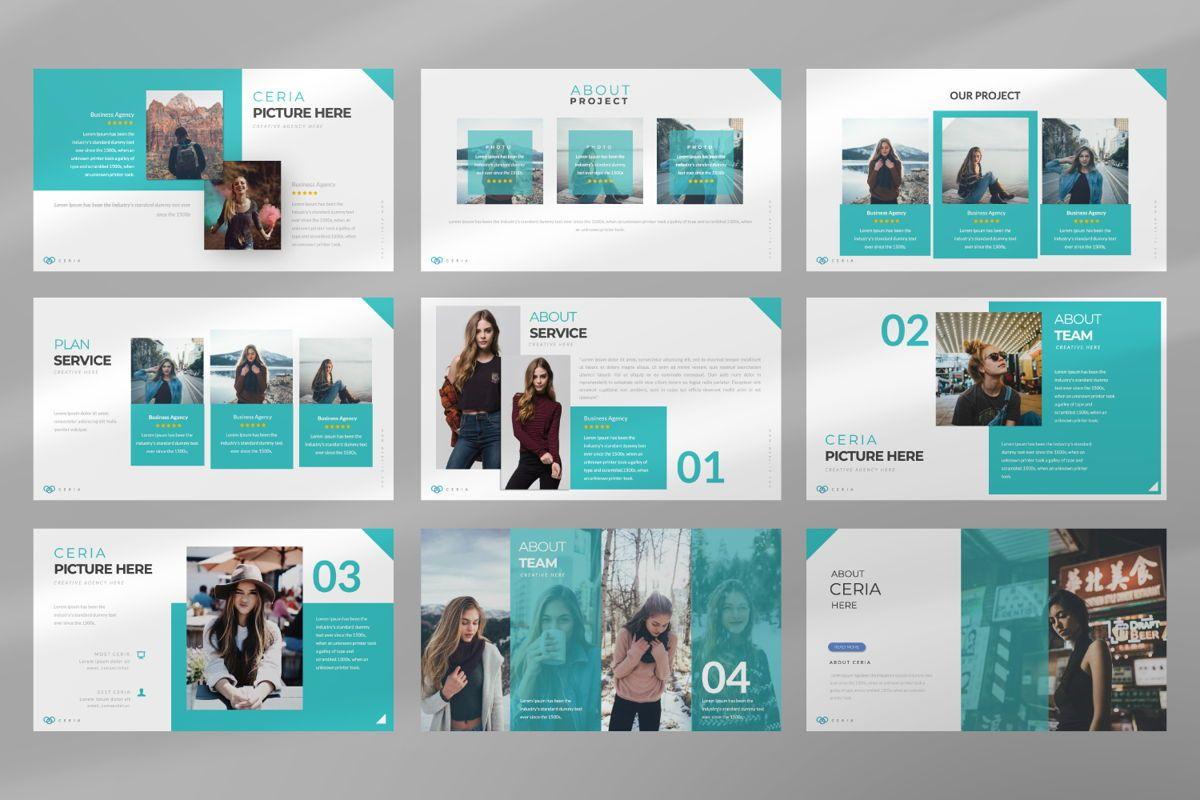 Ceria Creative Google Slide, Slide 3, 06504, Presentation Templates — PoweredTemplate.com