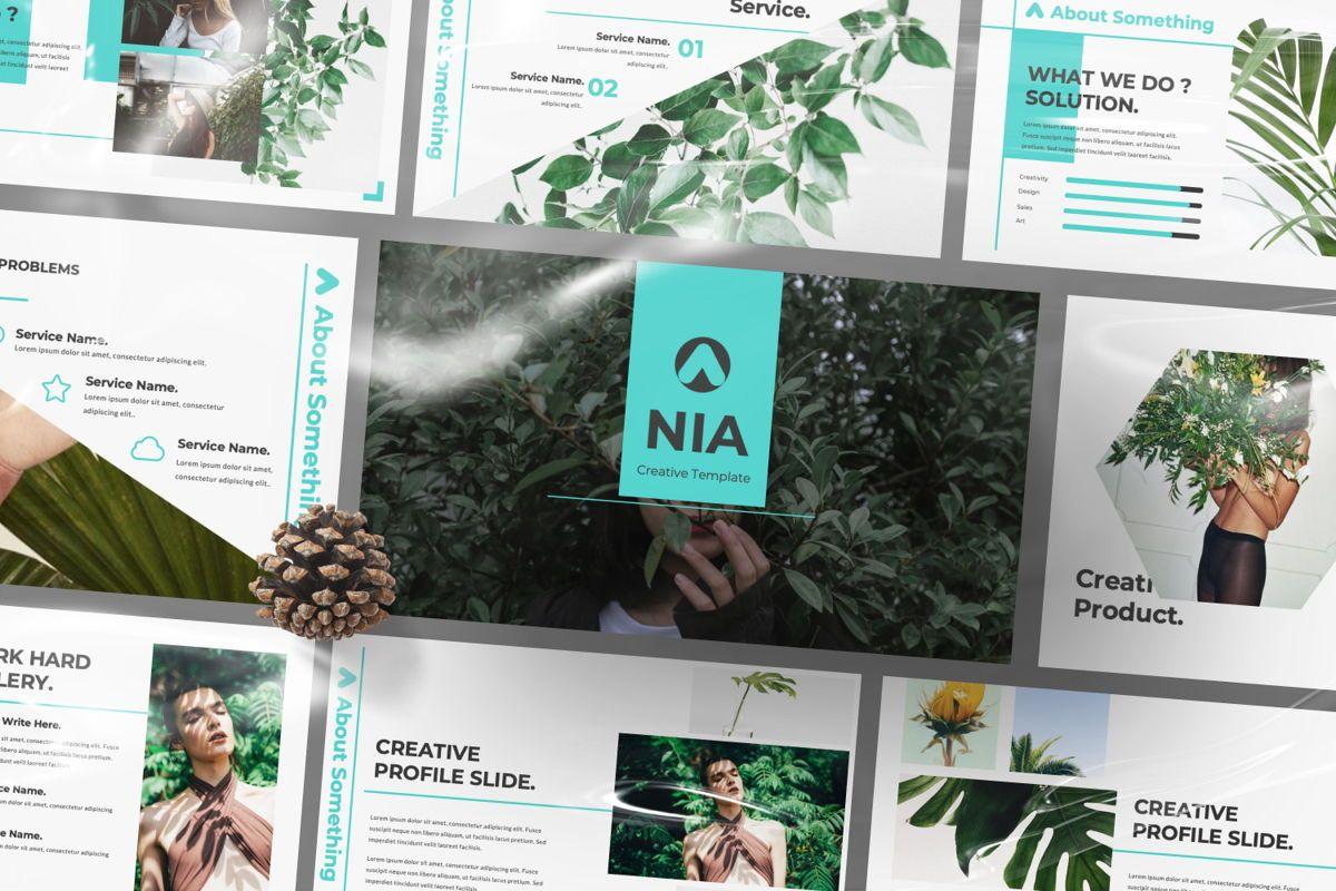 Nia Pitch Deck Google Slide, 06508, Presentation Templates — PoweredTemplate.com
