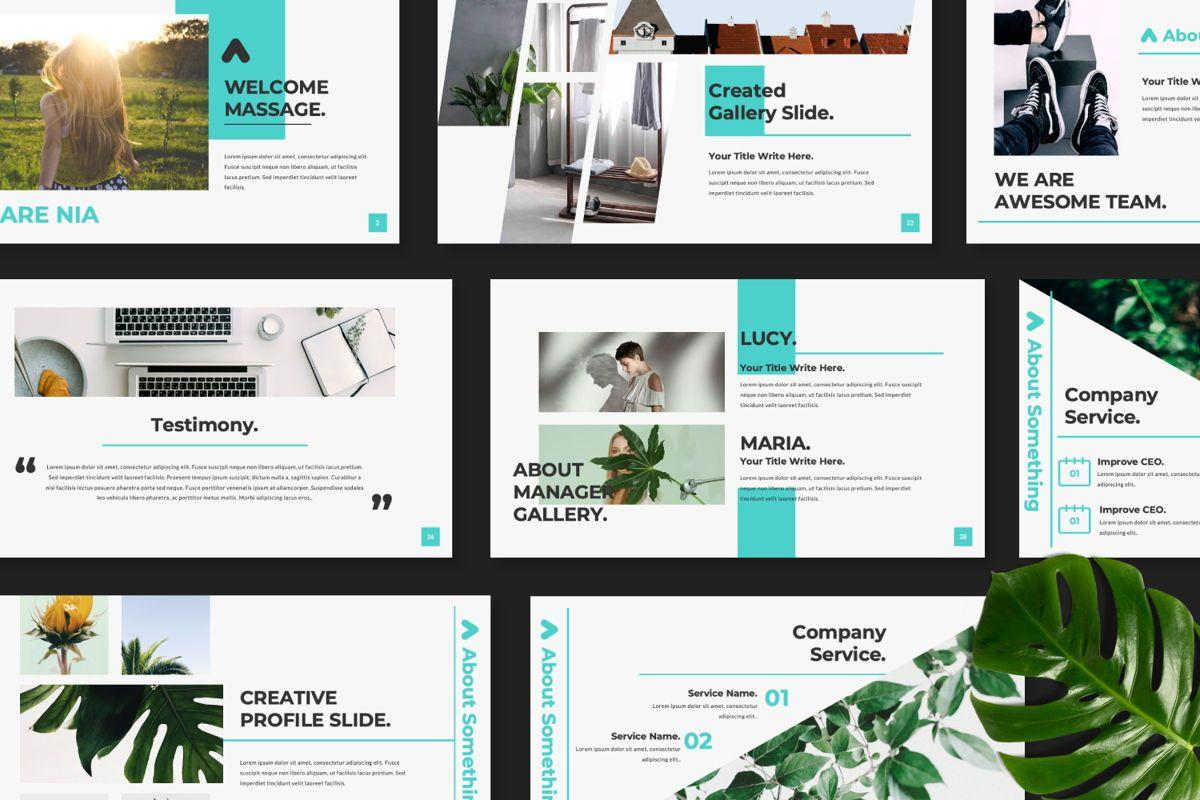 Nia Pitch Deck Keynote, Slide 8, 06509, Presentation Templates — PoweredTemplate.com