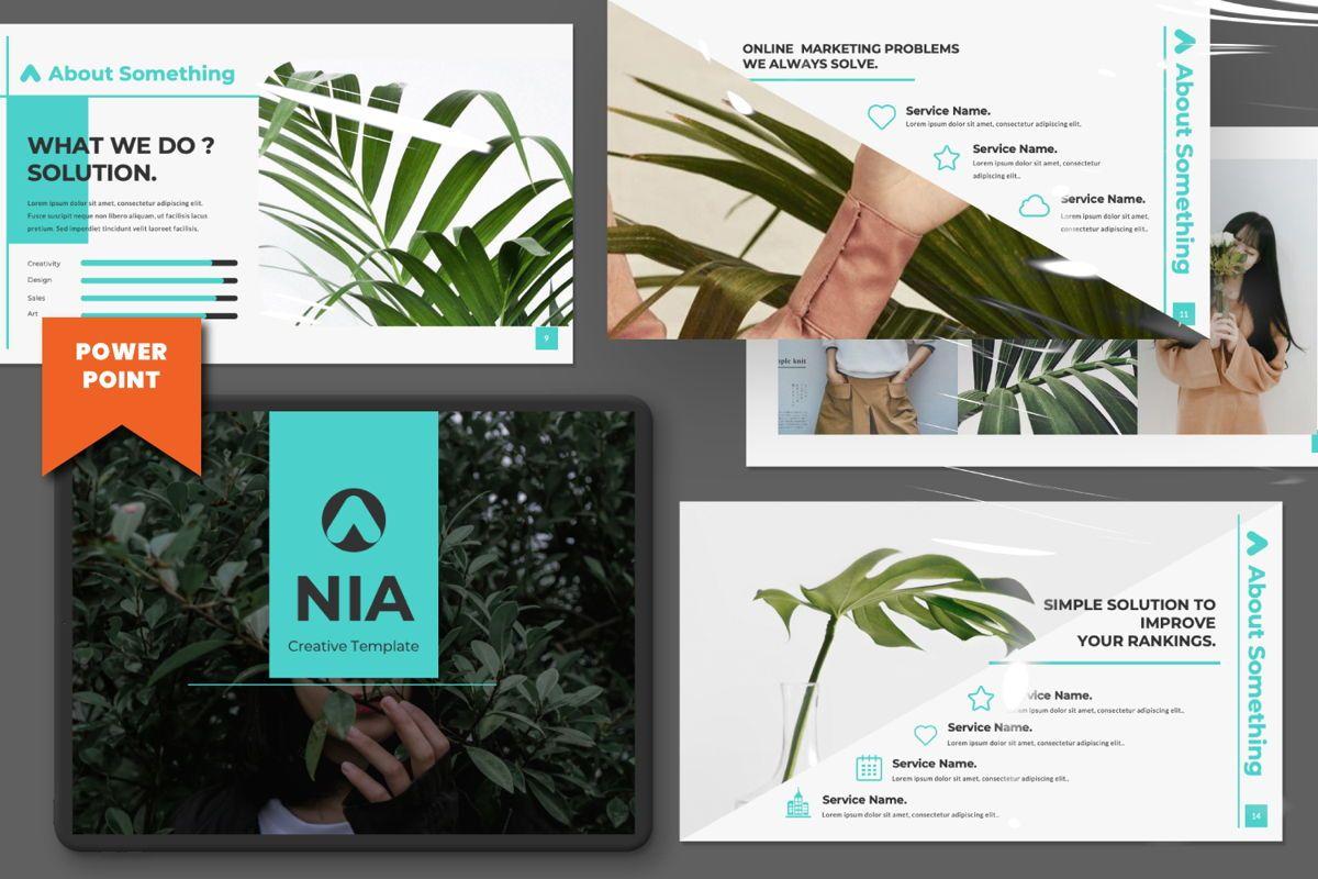 Nia Pitch Deck Powerpoint, 06510, Presentation Templates — PoweredTemplate.com