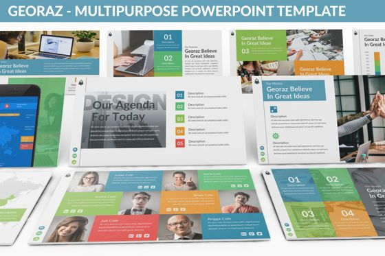 Data Driven Diagrams and Charts: Georaz - Multipurpose Powerpoint Template #06511