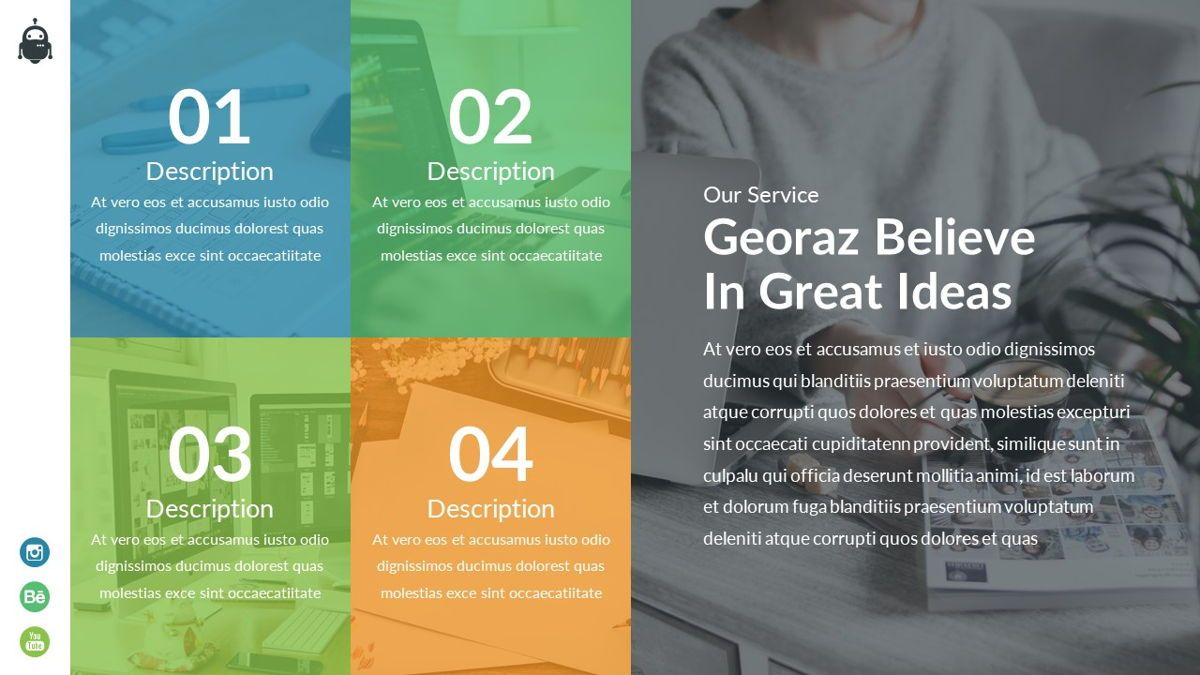 Georaz - Multipurpose Powerpoint Template, Slide 13, 06511, Data Driven Diagrams and Charts — PoweredTemplate.com