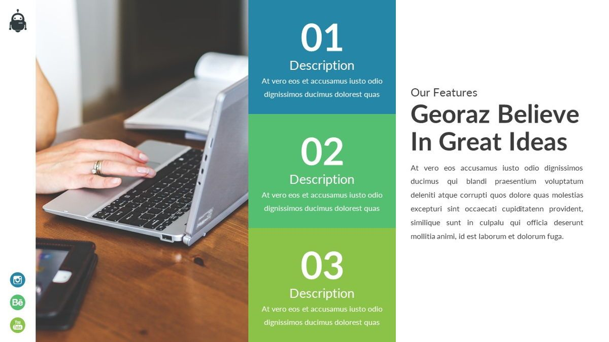 Georaz - Multipurpose Powerpoint Template, Slide 14, 06511, Data Driven Diagrams and Charts — PoweredTemplate.com