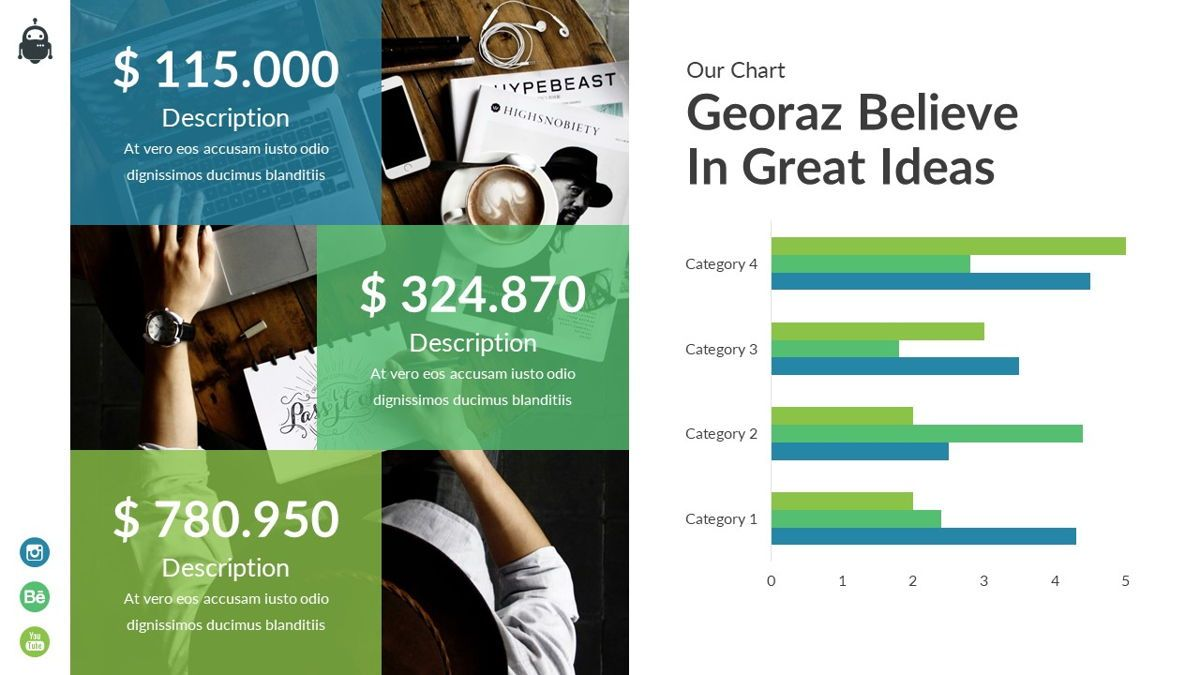 Georaz - Multipurpose Powerpoint Template, Slide 25, 06511, Data Driven Diagrams and Charts — PoweredTemplate.com