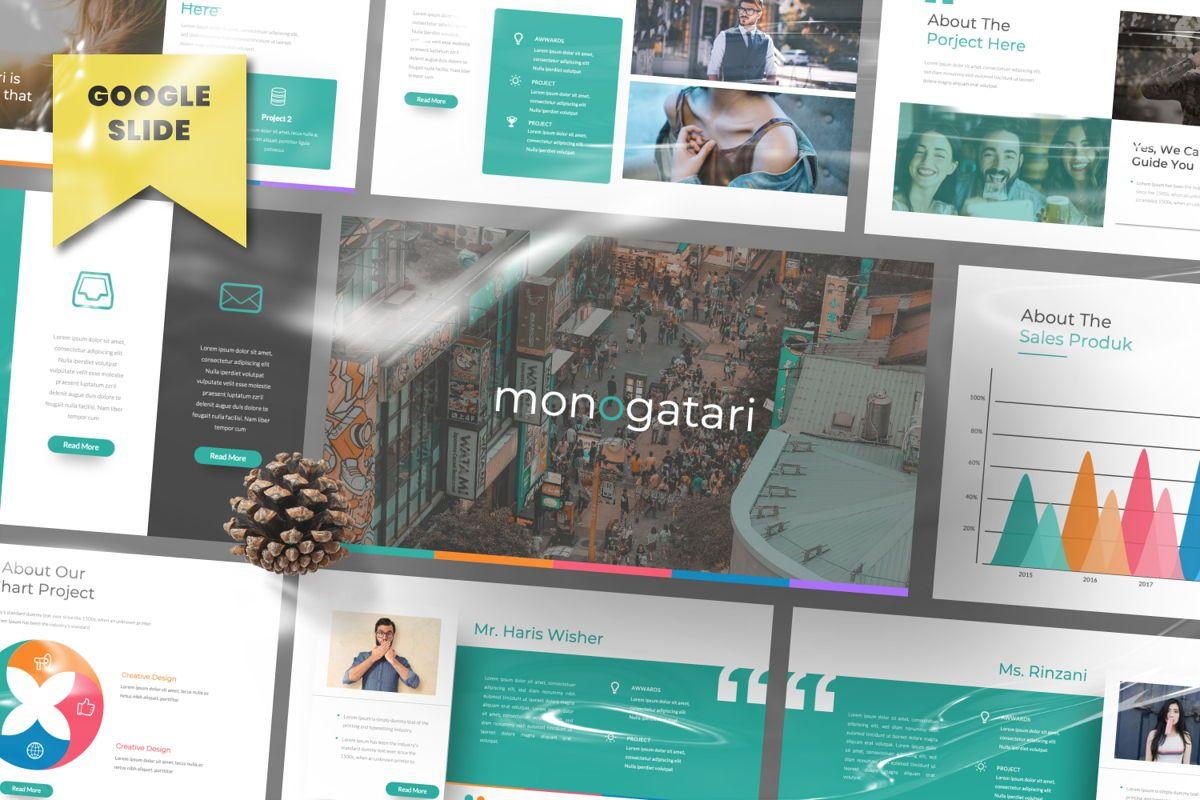 Monogatari Creative Google Slide, 06512, Presentation Templates — PoweredTemplate.com