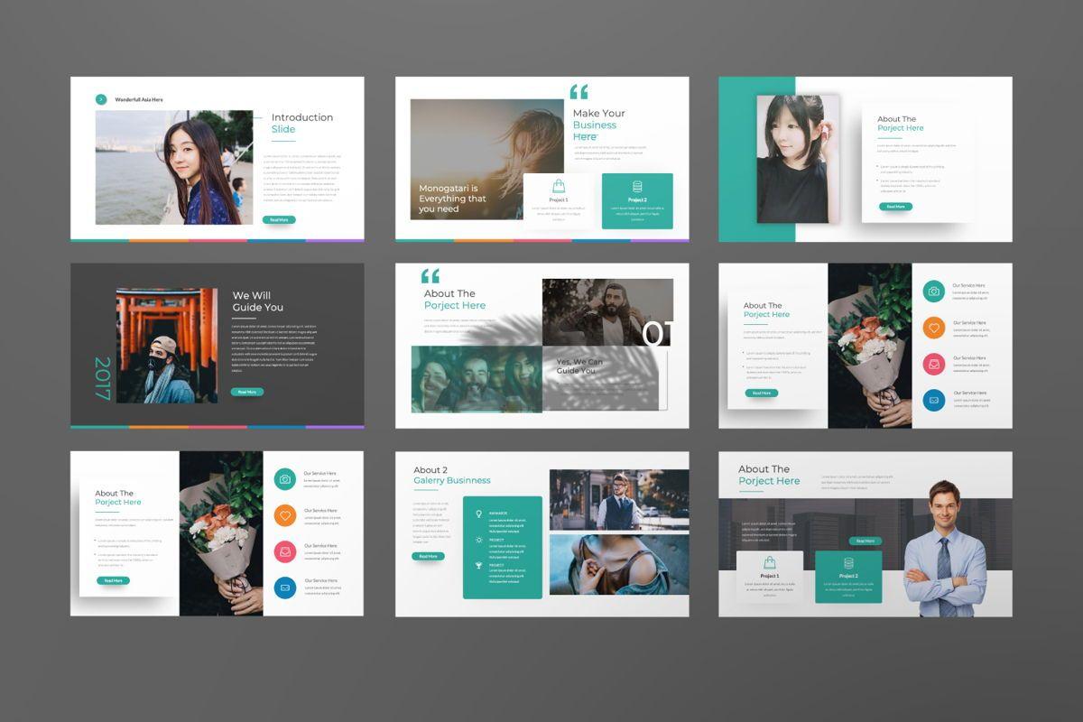 Monogatari Creative Google Slide, Slide 2, 06512, Presentation Templates — PoweredTemplate.com