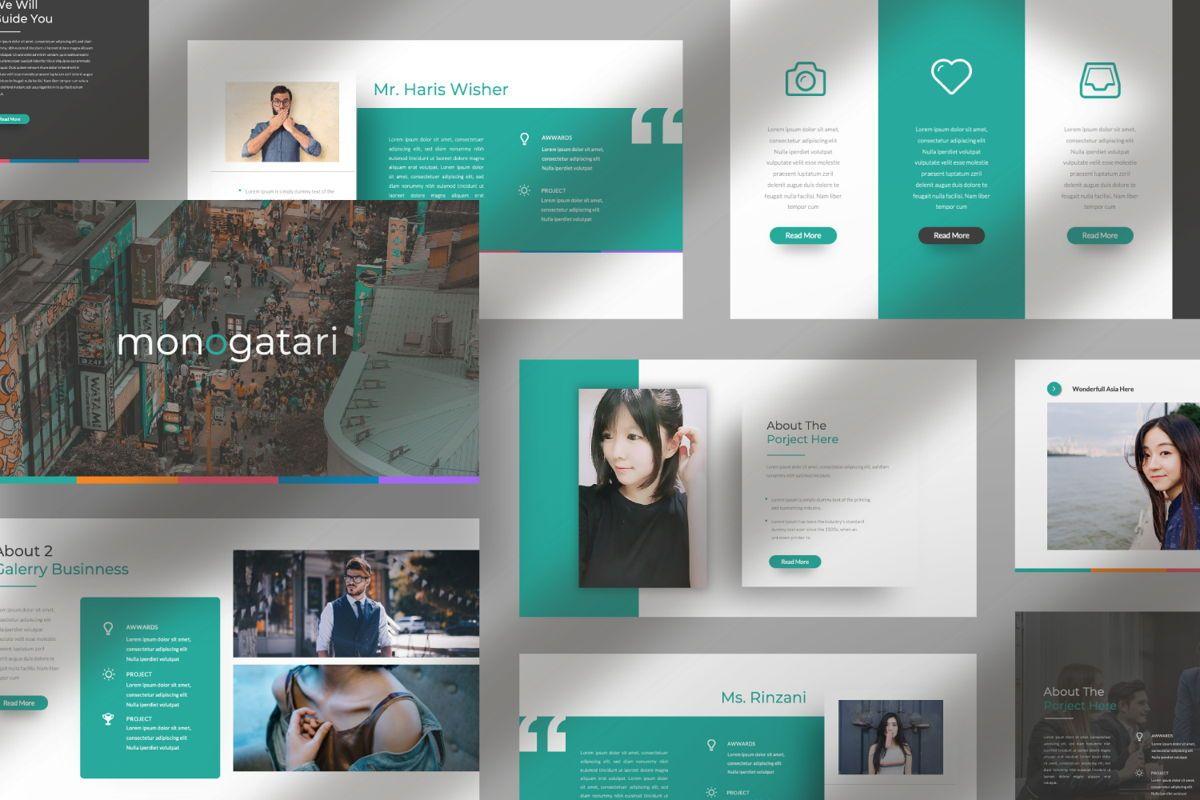 Monogatari Creative Google Slide, Slide 7, 06512, Presentation Templates — PoweredTemplate.com