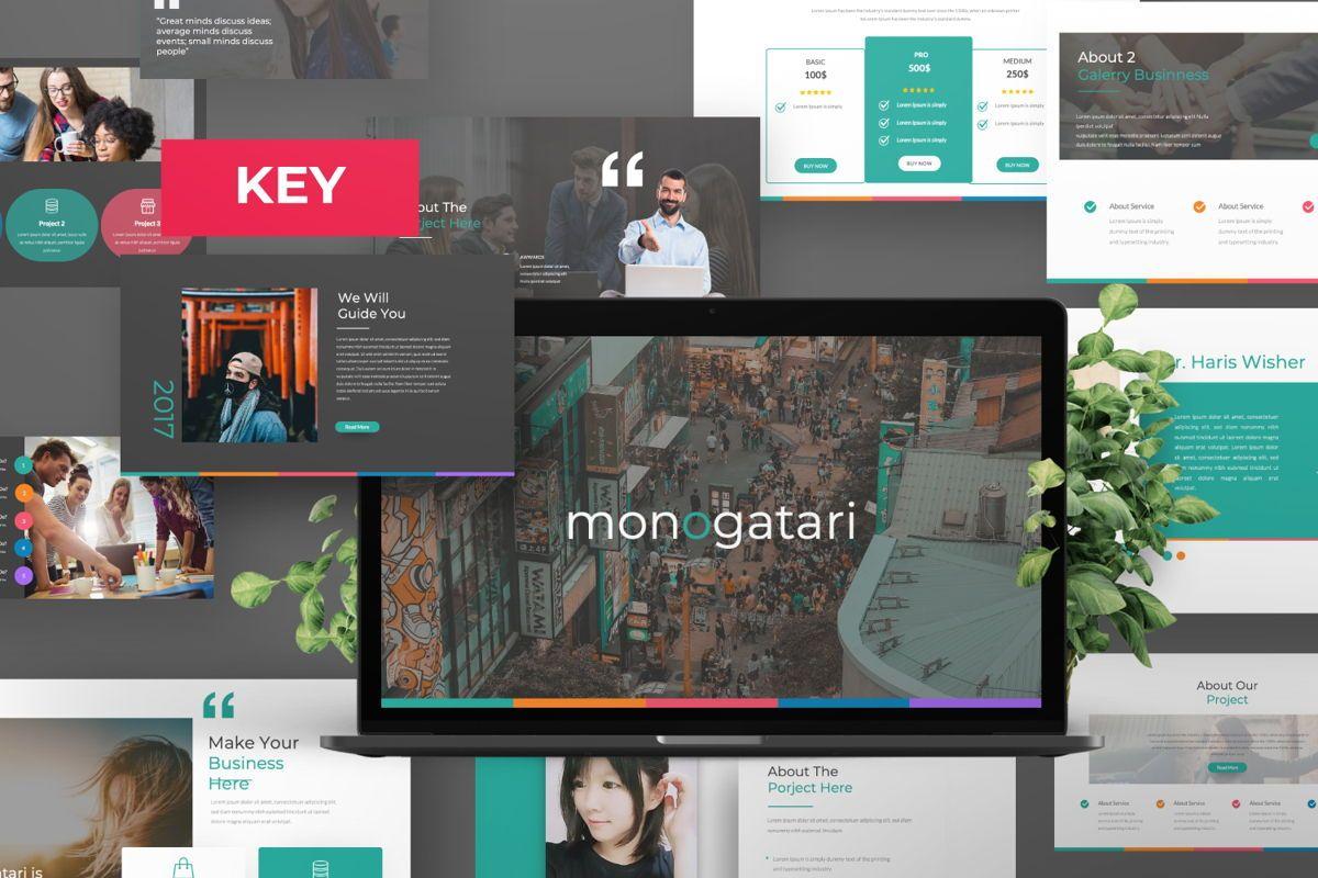 Monogatari Creative Keynote, 06513, Presentation Templates — PoweredTemplate.com