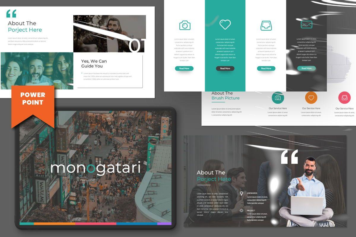 Monogatari Creative Powerpoint, 06514, Presentation Templates — PoweredTemplate.com