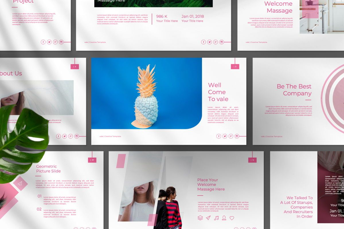 Vallery Business Google Slide, Slide 11, 06520, Presentation Templates — PoweredTemplate.com