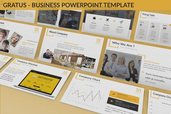 Business Models: Gratus - Business Powerpoint Template #06523