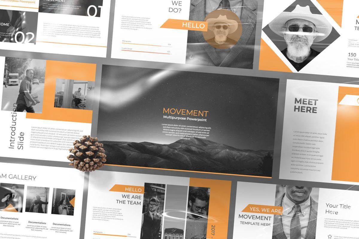 Movement Creative Google Slide, 06524, Presentation Templates — PoweredTemplate.com