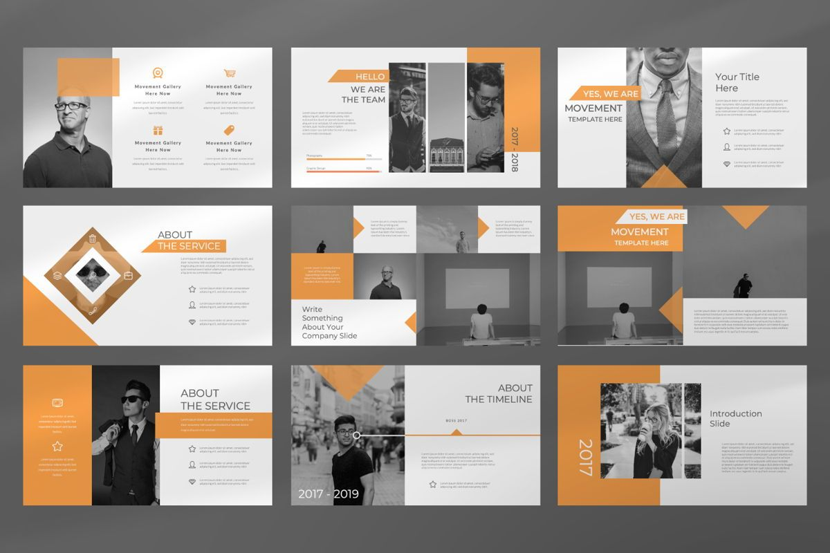 Movement Creative Google Slide, Slide 3, 06524, Presentation Templates — PoweredTemplate.com